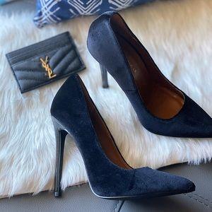 Shoe Republic LA Black Velvet Pumps